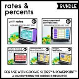 Rates and Percents Digital Math Activity Bundle | 6th Grade