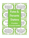 Rates and Percents Stations