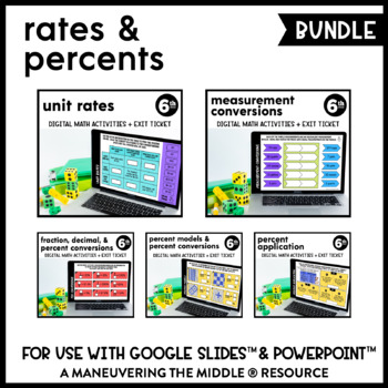 Rates and Percents - Supplemental Digital Math Activities for Google Slides™