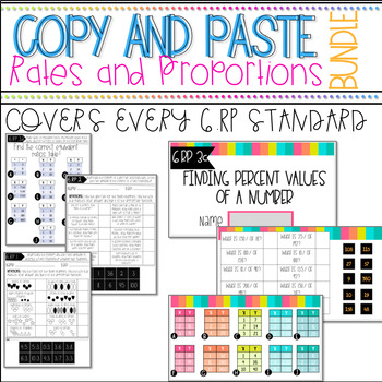 Rates and Proportions Copy and Paste Activity. Google Drive Included!