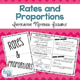 Rates and Proportions Interactive Notebook Foldable