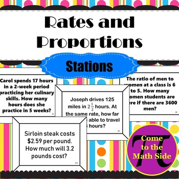 Rates and Proportions Stations