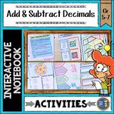 Adding and Subtracting Decimals Interactive Notebook