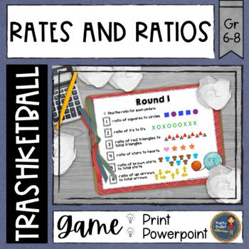 Rates and Ratios Trashketball Math Game