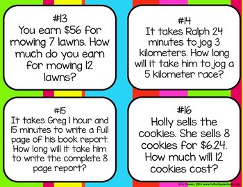 Rates and Ratios Word Problems
