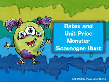 Rates and Unit Price Scavenger Hunt