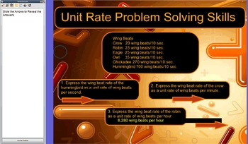 Rates and Unit Rates Flipchart for Promethean's Activ Inspire