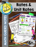 Rates and Unit Rates - Guided Notes / Interactive Notes