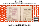 Rates and Unit Rates Notes and Activity
