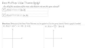 Rates of Change & The Mean Value Theorem