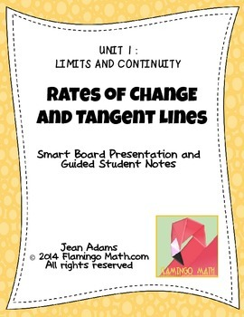 PreCalculus: Rates of Change and Tangent Lines