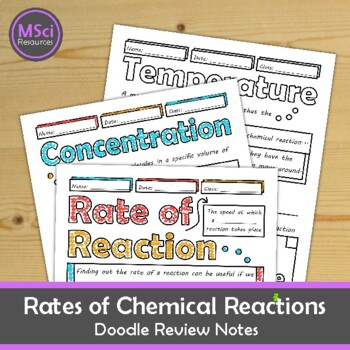 Rates of Chemical Reactions Middle, High School Chemistry