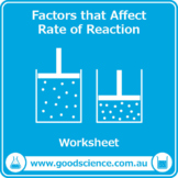 Rates of Chemical Reactions [Worksheets]