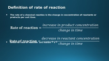 Rates of reaction PowerPoint