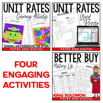 Rates to Unit Rates Lesson Bundle