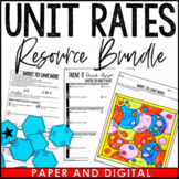 Rates to Unit Rates Resources - Lesson Bundle - Distance Learning