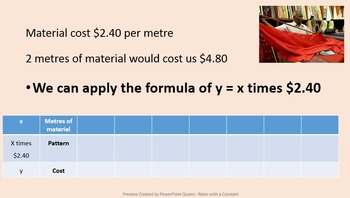 Rates with a Constant PowerPoint & Worksheets