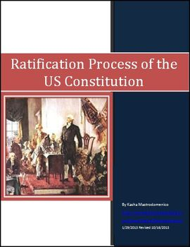 Ratification Process of the US Constitution Differentiated Instruction Lesson