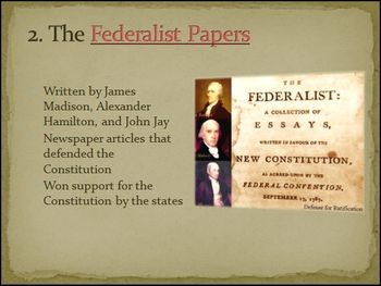 Ratification Process of the US Constitution Differentiated PowerPoint