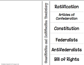 Ratification of the Constitution Activities