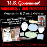 U.S. Constitution: Federalist V. Anti-Federalist ~ A Primary Source & PPT ~