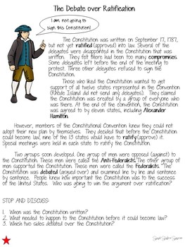 Ratifying the Constitution - Federalists vs. Anti-Federalists Debate MODIFIED