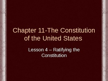 Constitution of the United States - Ratifying the Constitu