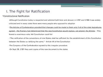 Ratifying the Constitution U.S. American Government - from McGruder Ch 2 Sec 5