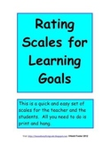 Rating Scales for Learning (Common Core Aligned)