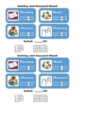 Ratings and Rewards Sheet for School and Home- ADHD