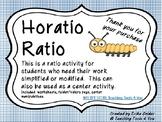Ratio Center, Worksheet, and Folder (velcro)