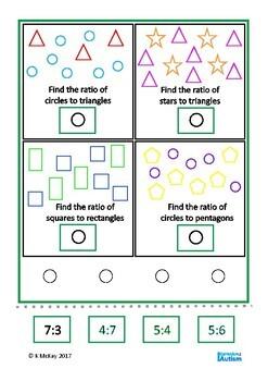 Ratio Count & Match Math Center, Autism, Special Education