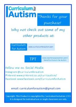 Ratio Count & Write, Autism Special Education