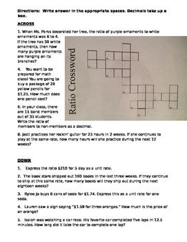 Ratio Crossword