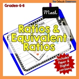 Ratio & Equivalent Ratio Task Cards with Mini Lesson