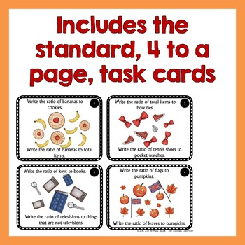 Ratios and Equivalent Ratio Activity | Task Cards and Mini Lesson | 6th Grade