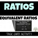 Ratios - Equivalent Ratios Task Card Activity (6.RP.A.3A.AA.4)