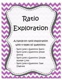Ratio Exploration Task Cards - Includes Tape Diagram & Double Number Line Tasks
