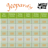 Ratio - Fraction - Percent Jeopardy Style Math Game