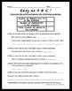 Ratio Intro Activity - Easy as ABC; Relating Fractions and Ratios