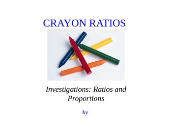 Ratio Modeling Powerpoint Activity