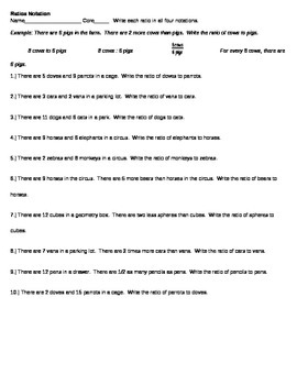 Ratio notations writing ratios in multiple ways worksheet tpt ratio notations writing ratios in multiple ways worksheet ibookread PDF