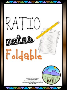 Ratio Notes Foldable