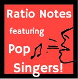 Ratio Notes and Activities featuring Pop Singers!
