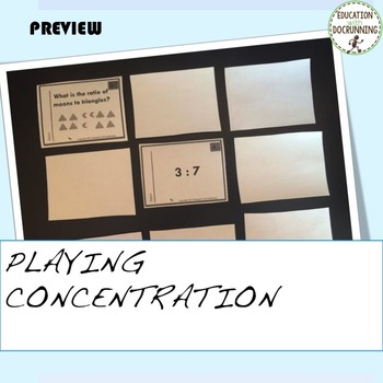 Ratio of Shapes Task Card Activity to introduce Ratio (CCSS 6.RP.1.A.)