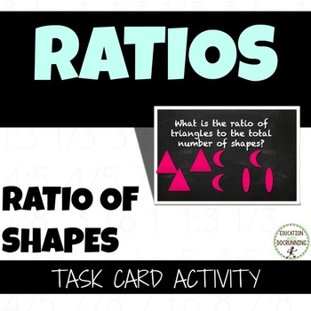 Ratio of Shapes Task Card Activity to introduce Ratio (CCS