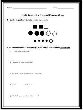 Ratio and Proportion: A Cumulative Math Test