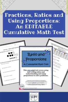 EDITABLE Ratio and Proportion: A Cumulative Math Test