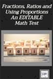 Ratio and Proportion: An EDITABLE  Cumulative Math Test