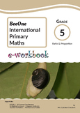 Grade 5 Ratio & Proportion workbook of 29 pages from BeeOne Books